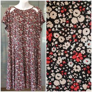 Michael Kors Floral Cutout Dress